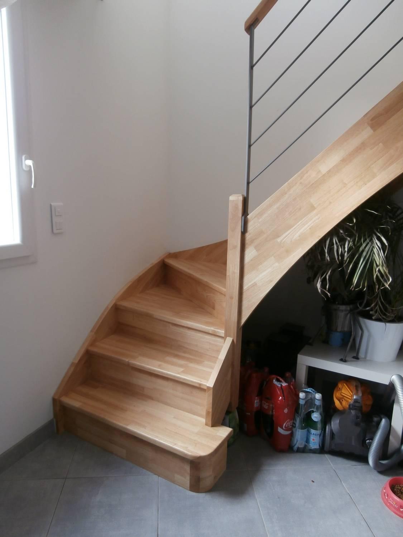 escalier 1 4 tournant en h v a sans contremarche aix en provence 13 atelier des escaliers aubaret. Black Bedroom Furniture Sets. Home Design Ideas