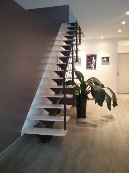 fabrication et pose d\'escalier droit moderne métal et bois Arles 13 ...